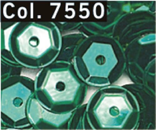 Pailletten-cup-6-mm-Mittelloch-Roehrchen-9-g-Farbe-7550-petrol