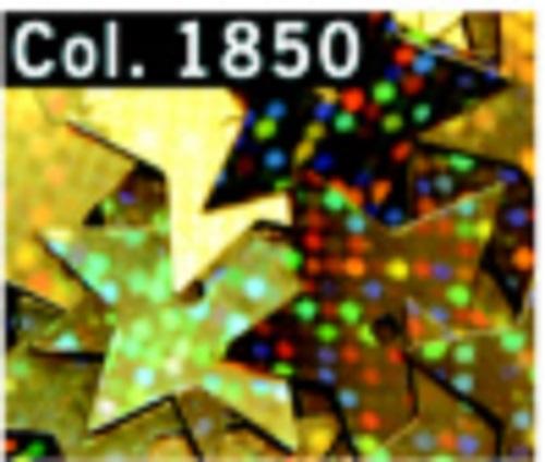 Pailletten Sterne 15 mm Mittelloch 4 g Röhrchen goldfarbig irisierend