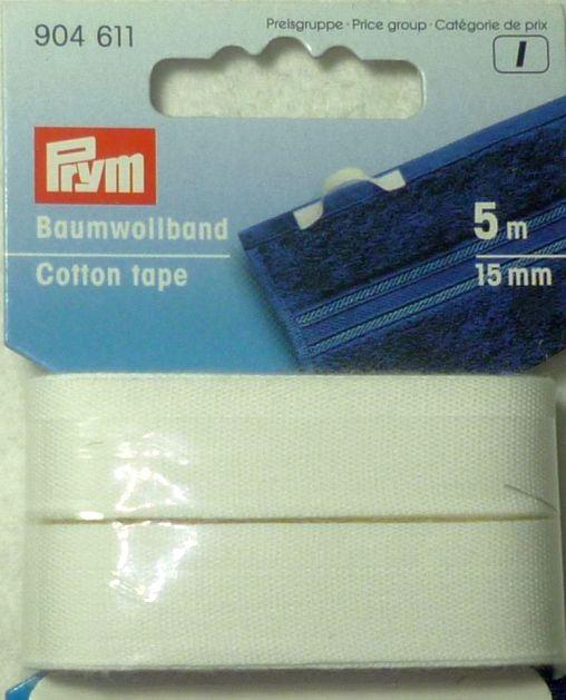 Band 20 mm Baumwolle braun  kräftig 3 m Coupon 902023  m//0,90€